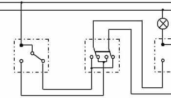 Перекрестный переключатель схема подключения