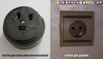 Подключение электрогриля и комбинированной плиты в розетку