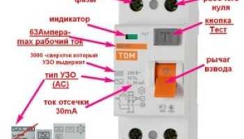 Как подключить узо без заземления схема