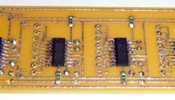 Подключение семисегментного индикатора по трём проводам (74hc595)